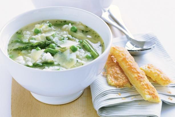 Sopa, guisantes, arroz, limón, primavera, receta primaveral, receta vegetariana, recetas vegetarianas, receta vegana, recetas veganas, receta ayurvèdica, recetas ayurvédicas, receta kapha, receta vata, receta pitta