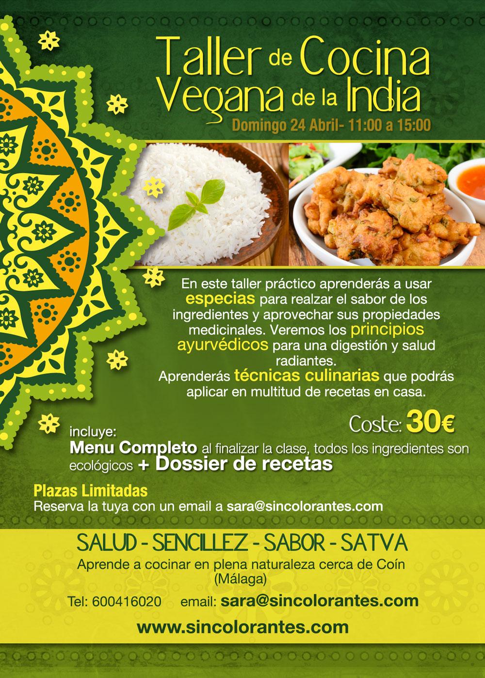 taller cocina india, taller vegano, taller cocina vegana. taller cocina india vegana, taller cocina ayurveda, taller cocina malaga