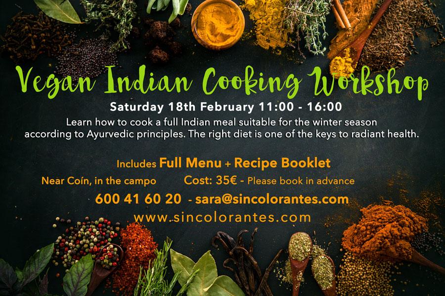 kapha, indian cooking workshop, vegan cooking workshop, malaga, ayurveda, cookery workshop malaga, vegan cookery workshop