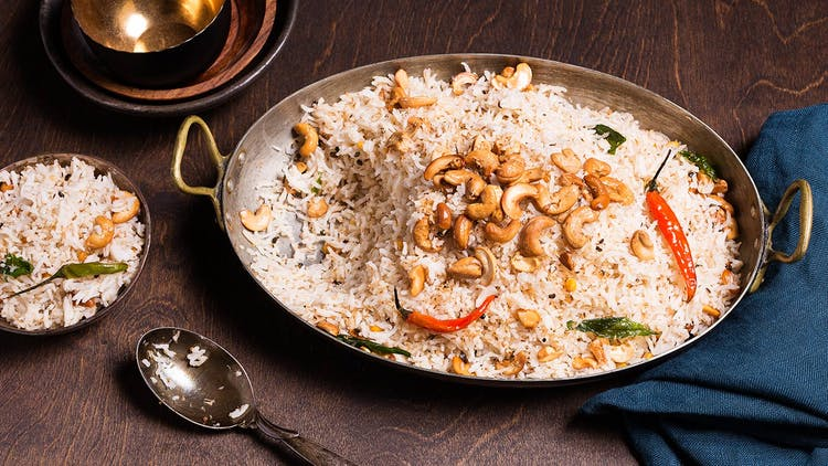cashew and coconut pilaf