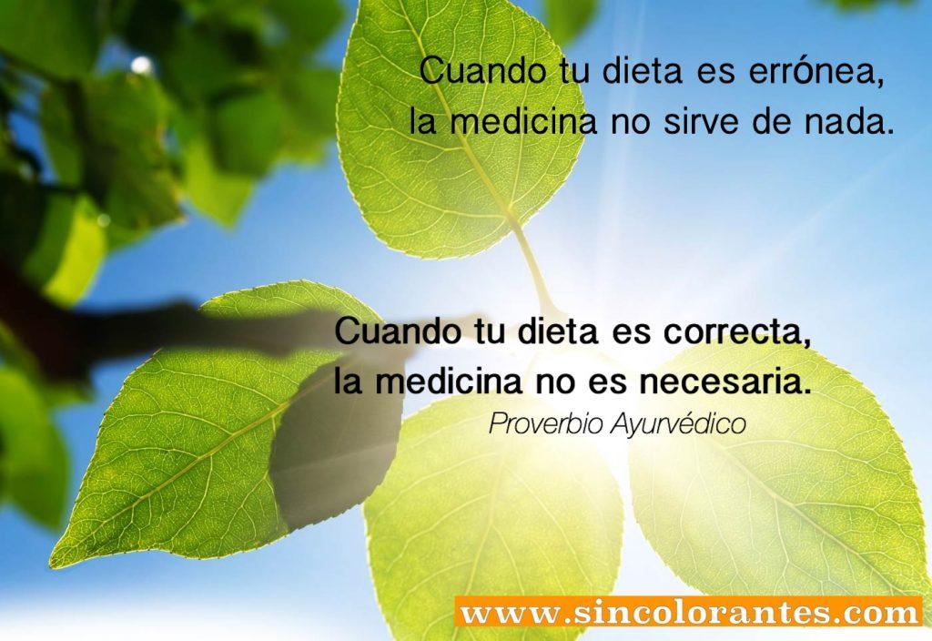 Ayurveda, sincolorantes.com, alimento medicina
