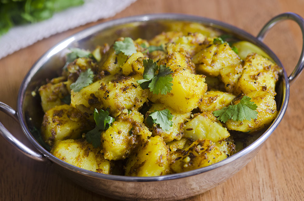 patatas a la bengalí, recetas vegetarianas, sincolorantes.com