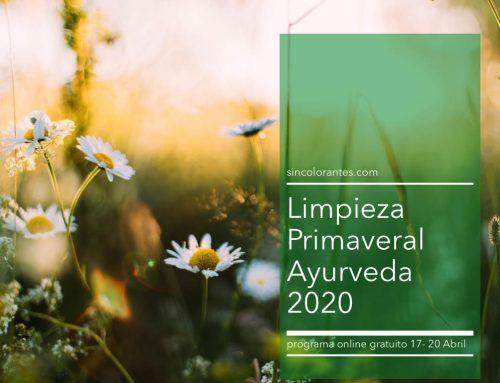 Limpieza Primaveral Ayurveda 17-20 Abril. Programa Online Gratuito
